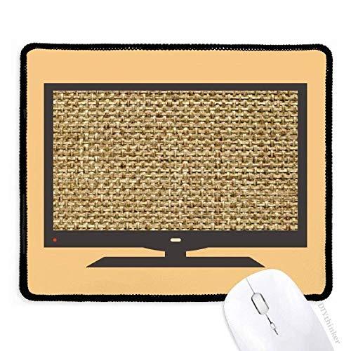 tawny jute knit nouvelle illustration schéma linge tapis de souris souris bureau caoutchouc antidérapant.