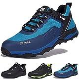 SUADEX Zapatos de Seguridad Hombre Mujer Ligero Zapatillas de Seguridad Hombre Trabajo Transpirables Zapatos de Trabajo Puntera de Acero Calzado Antideslizante Industriales,Azul,43EU