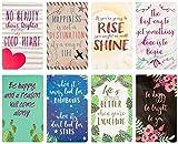 Cuaderno diario – Paquete de 8 cuadernos forrados para viajeros, diario, notas – 8 diferentes diseños motivacionales, cubierta suave, 80 páginas, multicolor, 8 x 4.9 pulgadas