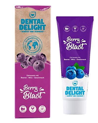 DENTAL DELIGHT Berry Blast Zahncreme Blaubeere-Minze Vegan Klimaneutral Mikroplastik-frei