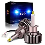 H1 Led Headlight Bulb 360 Degree 80W Upgraded 6 Sides CSP Chips Xenon White 6000K 12000LM with EMC Canbus H1 Led Headlight Bulbs for Projector High Low Beam Conversion Kit (Pack of 2)