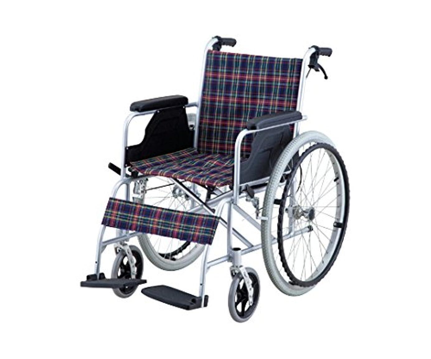 スクラブ見せます燃やす【非課税】ナビス 車椅子 (自走式/アルミ製/介助ブレーキ付き) / 8-5951-01