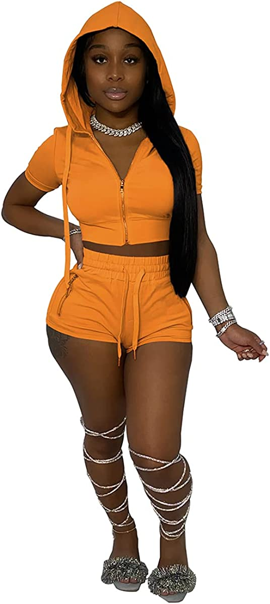 IVANLUNA Sexy Max 70% OFF Solid Two Popularity Piece Shorts Shoul Off 2021 Women Summer