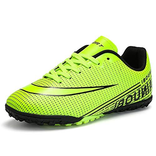 TYX Jungenfußballschuhe, rutschfeste, Verschleißfeste Fußballschuhe Für Jugendliche, Jungen, Mädchen, Wettkampf- / Trainingsschuhe,Grün,32