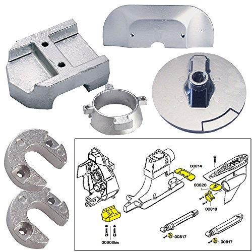 Lowest Prices! Tecnoseal Anode Kit w/Hardware - Mercury Alpha 1 Gen 2 - Aluminum (52027)