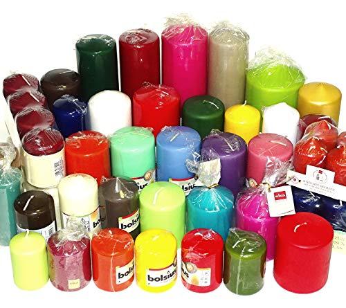 10 kg Qualität Stumpenkerzen Paket farblich bunt gemischt Stumpen Kerzen 1. Wahl