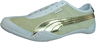 PUMA Mystere Chevron Womens Leather Trainers/Shoes - Beige