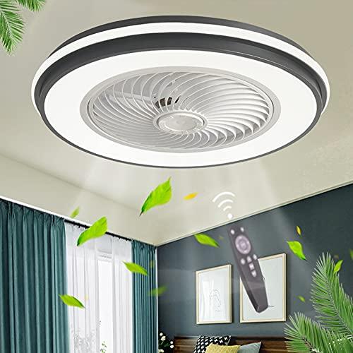 Dormitorio Lámpara De Ventilador Potente Silenciosos Casa Ventiladores De Techo Con Luz Regulable Luces LED Ventilador Techo Con Mando A Distancia Moderno Invisible Habitación Salon Oficina