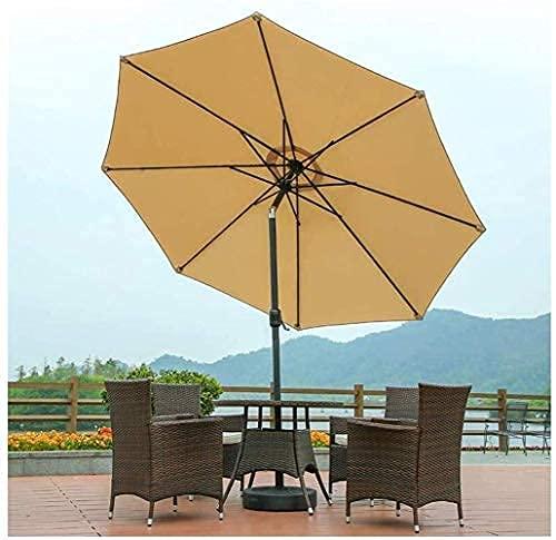 H-BEI Sombrilla para el Sol Sombrilla Sombrilla para jardín Sombrilla para jardín, Sombrillas inclinables de 2,7 m con manivela, Mecanismo de inclinación Ajustable, Protección UV, para b