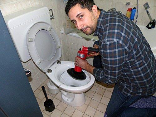 Rothenberger IndustrialPressluft Rohrreiniger (4 bar) zur Reinigung verstopfter Abflüsse im Bad oder WC - 2