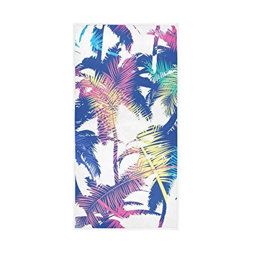 Mr.XZY Toalla de palmera de color tropical, pintada a mano, suave, multiusos, 2010021