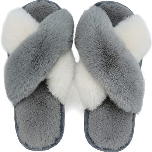 pantofole uomo peluche Lvptsh Pantofole Donna Uomo Peluche Ciabatte Caldo Comode Antiscivolo Scarpe da Casa Slippers Autunno/Inverno