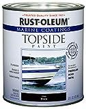 Rust-Oleum, Black, 207006 Marine Topside Paint,...