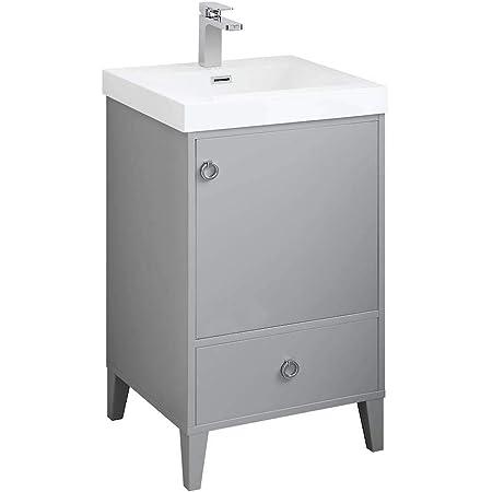 Freestanding Waterproof Ergonomic Design 20 Single Bathroom Vanity With Acrylic Sink 023 20 15 A 20 Inch Acrylic Metal Grey Amazon Com
