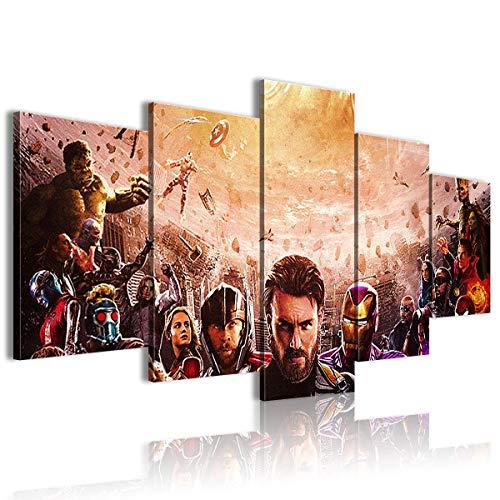 AivGEG Movie Avengers: Infinity War 5 Pezzi Sharingan Poster Invia ad Amici 150x80 incorniciato