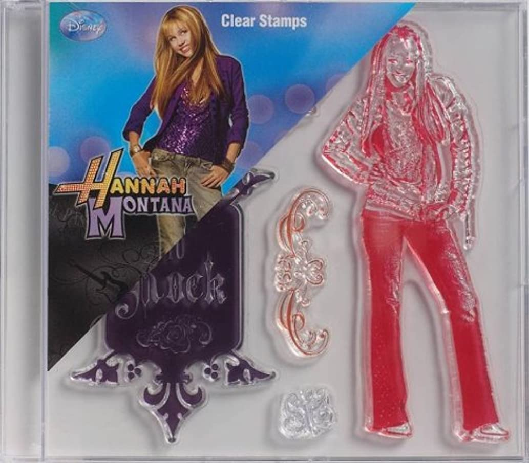 Plaid Clear Stamps in Case, 912-87 Hannah Montana Ready To Rock