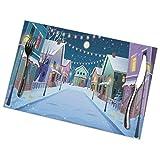 Tcerlcir Set di 6 Tovagliette Tranquilla Città Notturna a Snownywinter Lavabile Antiscivolo Resistente al Calore per la Cucina e la tavola 45x30cm