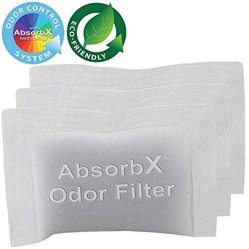 Discover Bargain iTouchless 3-Pack AbsorbX Odor Filter for Titanium Compost Bin, Absorbs Compost Odo...