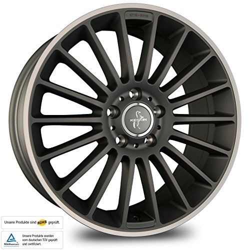 KESKIN KT15 TITAN GREY LIP POLISH 8,5x20 ET30 5.00x112.00 Hub Hole 66.60 mm - Alu felgen