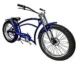 Tracer Fat Tire Beach Cruiser Bikes 26 Inches Wheels F&R Disc Brakes (Blue)