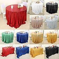 WLT ラウンドキラキラスパンコールテーブルクロステーブルクロス宴会結婚披露宴の装飾