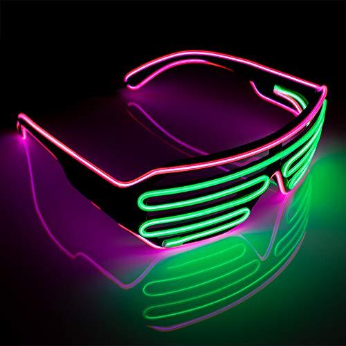 The Glowhouse Neon El Wire vetri dell'otturatore scanalato Moda tonalità Rosa / Verde