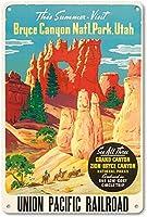 この夏はユタ州ブライスキャニオン国立公園を訪問 金属板ブリキ看板警告サイン注意サイン表示パネル情報サイン金属安全サイン
