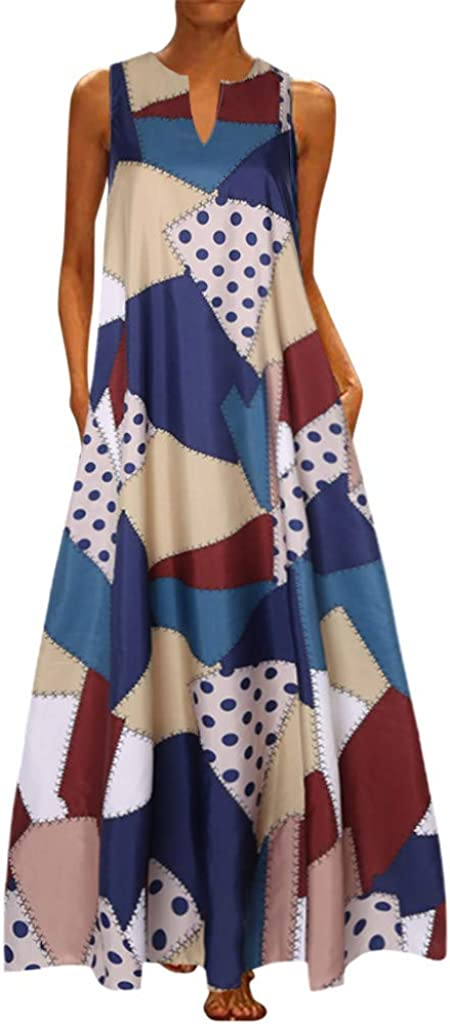 Hotkey Womens Dresses Summer Louisville-Jefferson County Mall Casual Floral Print Max 71% OFF Sleevele V-Neck