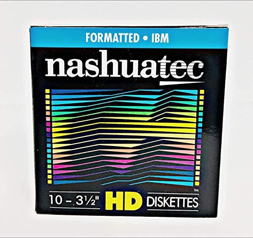 Nashuatec HD-Diskette mit hoher Dichte, 3,5 Zoll (8,9 cm), 2-seitig, formatiert, zur Datenspeicherung, 10 Stück pro Packung
