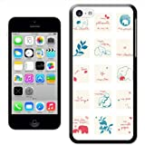 Fancy A Snuggle 'Elephant Squares' Hard Case Clip On Back Cover for Apple iPhone 5C