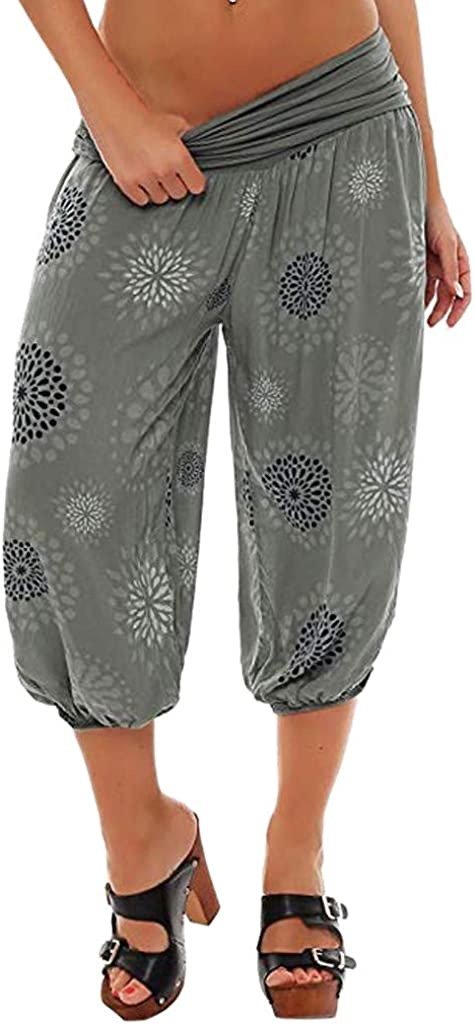 VEZAD Harem Pants for Women Casual Ranking TOP7 Button Pocket Print Super Special SALE held Har Loose