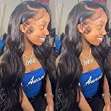 28 inch Glueless 13x6 Deep Part Invisible Lace Front Wigs VIPbeauty Brazilian Human Hair HD Transparent Wig 150% Density Pre-Plucked Body Wave Hair Lace Front Wigs for Black Women Virgin Human Hair