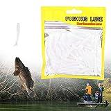 Pangding 𝐂𝐡𝐫𝐢𝐬𝐭𝐦𝐚𝐬 𝐂𝐚𝐫𝐧𝐢𝒗𝐚𝐥 Wits Baits, 50PCS 5cm Soft Plastic Fishing Lures T-Tail Grub Worm Baits...