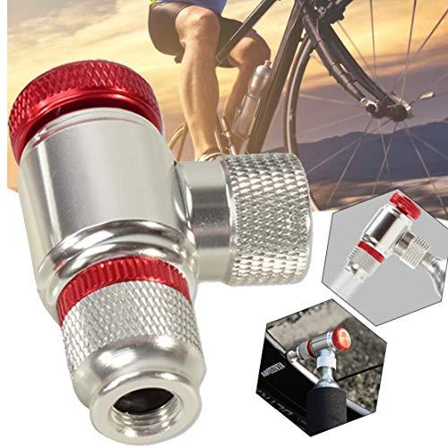 Co2 para Inflar Los Neumáticos De Bicicletas, Bicicletas De La Bomba De Neumáticos Presta Y Schrader Válvula Compatible MTB Neumáticos Bomba Cabeza De Aleación De Aluminio
