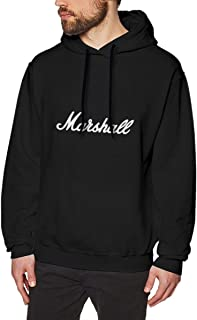 Tensenooo-fashion Men's Marshall Amplification Printing Crewneck Sweatshirt Black with Funny Hoodie