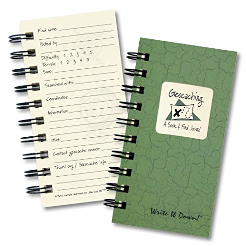 "Journals Unlimited ""Write it Down!"" Series Guided Journal, Write It Down, Geocaching, A Seek & Find Journal, Mini-Size 3�x5.5�, with a Green Hard Cover, Made of Recycled Materials Photo #5"