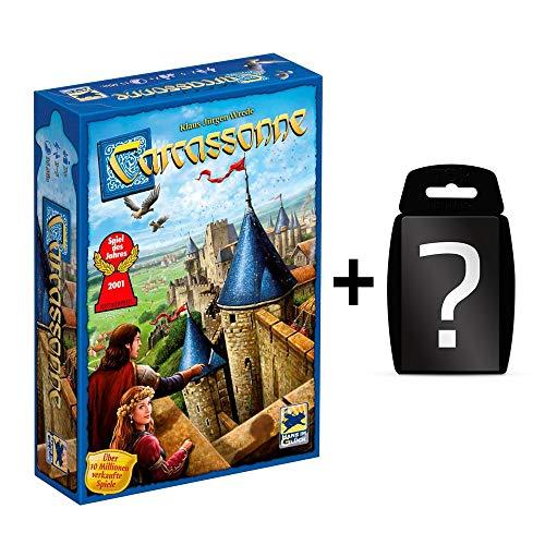 Carcassonne - Neue Edition - Grundspiel | DEUTSCH | Set inkl. Kartenspiel