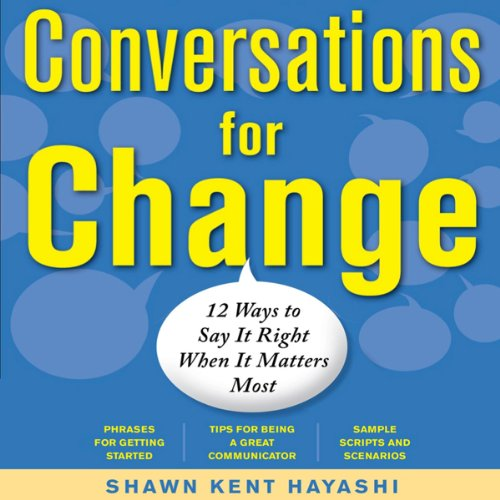Conversations for Change audiobook cover art