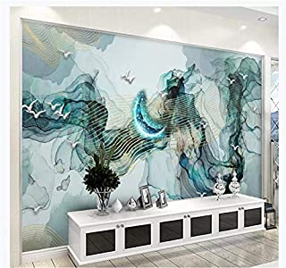 Photo Wallpaper Custom wallpaper 3D new Chinese abstract ink landscape moon decoration painting - high-grade waterproof ma...