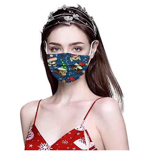 HEnri 10 Stück Erwachsene 3-lagig Einmal Mundschutz Bunt Bedruckt Einweg Nasen Mundschutz Atmungsaktiv Leichter Stoff Halstuch Staubdicht Sport Bandana für Frauen Männer Maske