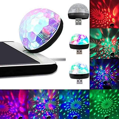 SUNUQ USB Interface Mini LED RGB Disco Stage Light Party Club DJ KTV Xmas Magic Phone Ball Lamp