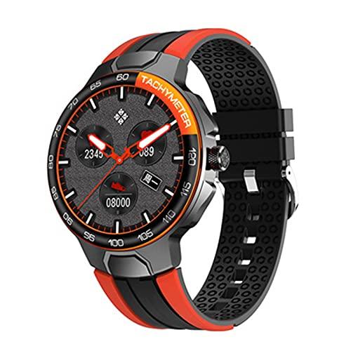 Smartwatch Mujeres hombres,monitorización de la frecuencia cardíaca,reloj inteligente de modo multideportivo,reloj de fitness resistente al agua compatible con Android/iO(Size:un tamaño,Color:NARANJA)