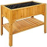 TecTake Jardinière surélevée avec étage 119x53x90cm | hausse pour jardinière - diverses modèles - (Jardinière surélevée | no. 402211)