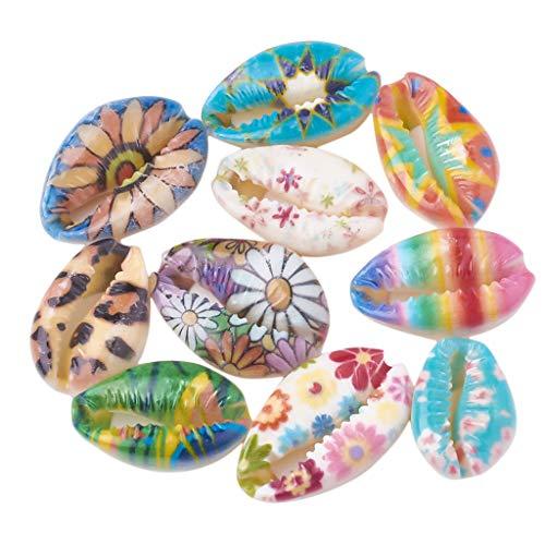 Generic 50pcs Coquillages de Mer Perle Coquille Decoration Table DIY Fabrication de Bijoux Décor Artisanal Bonsaï