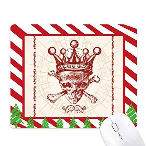 la couronne de diamants carte rouge modèle squelette au poker tapis de souris canne de noël du tapis.