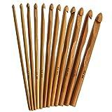 12PCS/set in legno di bambù uncinetti ferri da maglia set artigianale tessuto filato Craf...