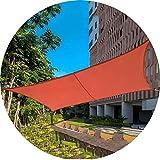 Velas de sombra Balcón rectángulo impermeable Vivienda de Sun. cubierta al aire libre Sun Nets Toldo Toldo Jardín Patio Patio Parque de tela Oxford (Color: Naranja, Tamaño: 5x8m), Tamaño Nombre: 5x7m,