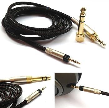 NewFantasia Replacement Audio Upgrade Cable for Sennheiser HD598 / HD558 / HD518 / HD598 Cs / HD599 / HD569 / HD579 Headphones 1.2meters/4feet