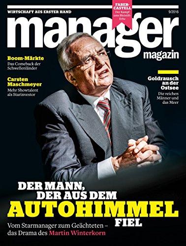 manager magazin 9/2016: Der Mann, der aus dem Autohimmel fiel