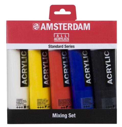 Amsterdam pintura acrílica mezcla Set de 5tubos de x120ml